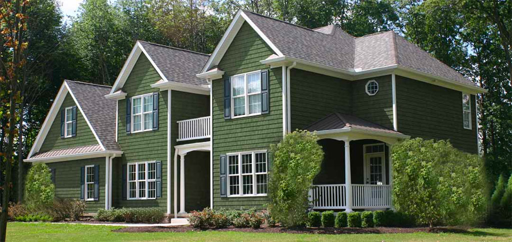Forrest Green Cedar Vinyl Shake Siding Factory Direct Siding